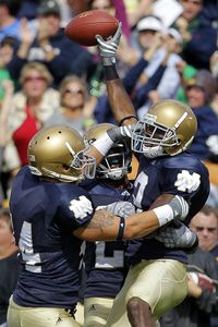 Notre Dame defense celebrates