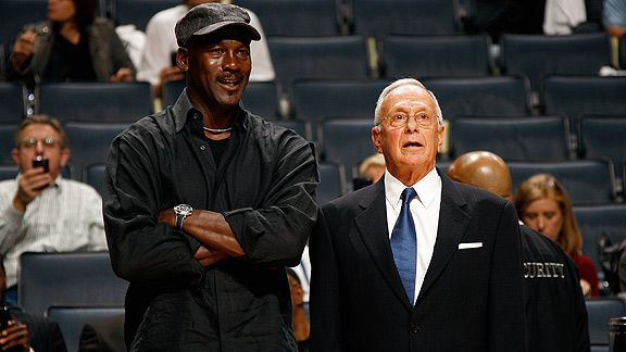 Michael Jordan & Larry Brown