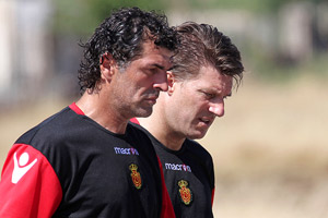 Miguel Angel Nadal and Michael Laudrup