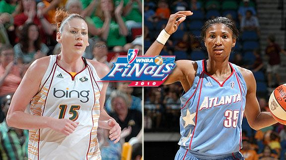 Angel McCoughtry & Lauren Jackson