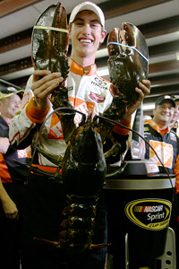 Joey Logano with NHMS lobster