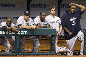 New York Yankees bench
