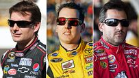 Jeff Gordon, Kyle Busch, Tony Stewart