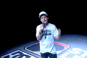 Rob Dyrdek warms up the crowd both in the arena and watching Street League at home on ESPN2.