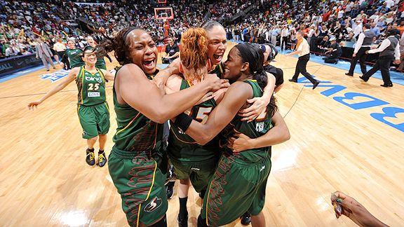 Seattle Storm celebrate WNBA Finals championship