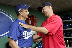 Joe Torre and Terry Francona