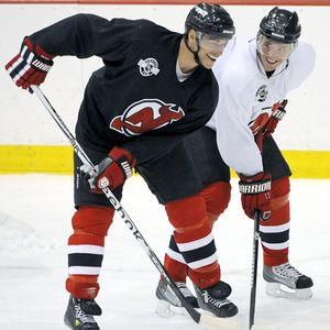 Ilya Kovalchuk and Bryce Salvador