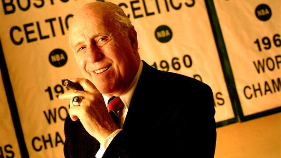 Red Auerbach with the Celtics
