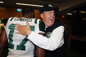 Rex Ryan and Braylon Edwards