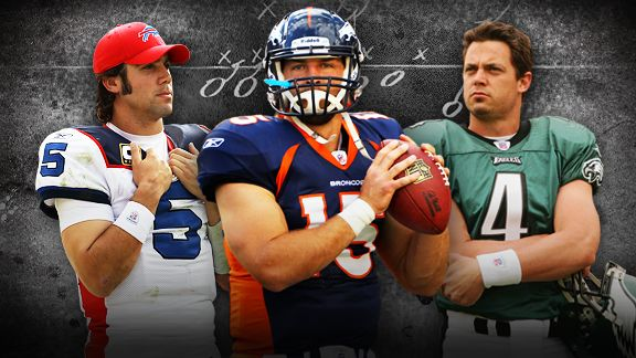 Trent Edwards, Tim Tebow, Kevin Kolb