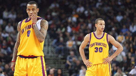 Monta Ellis and Stephen Curry