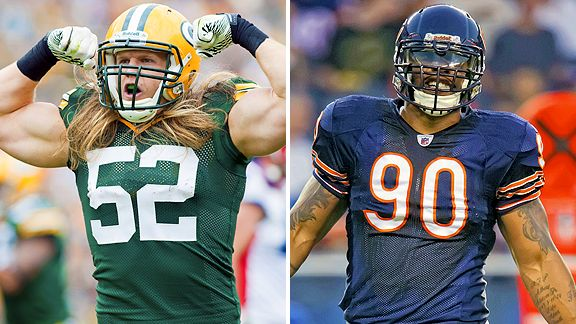 Clay Matthews and Julius Peppers