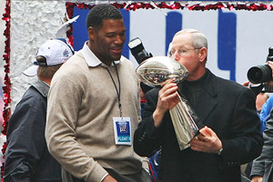 Michael Strahan and Tom Coughlin