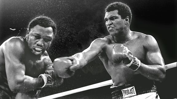 Joe Frazier and Muhammad Ali in Manila