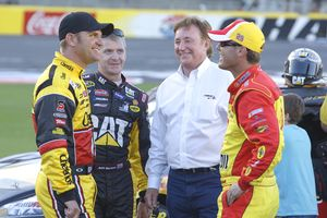 Clint Bowyer, Jeff Burton, Richard Childress and Kevin Harvick