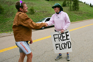 Floyd Landis and supporter