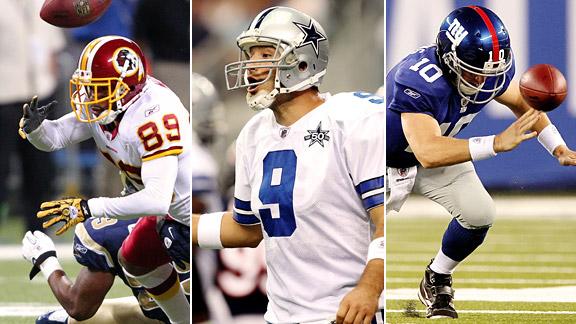 Redskins, Cowboys & Giants