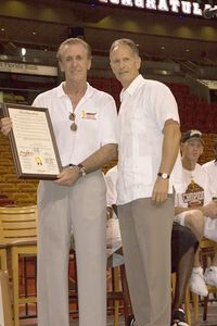 Carlos Alvarez and Pat Riley