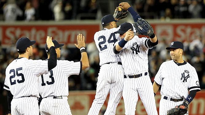 New York Yankees celebrate