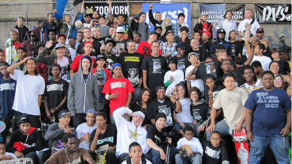 The crowd in NYC for the fourth annual Harold Hunter Day.