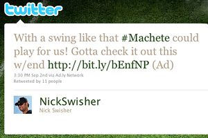 Nick Swisher's twitter status