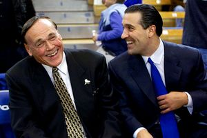 Steve Lavin and Gene Keady