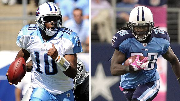 Vince Young and Chris Johnson