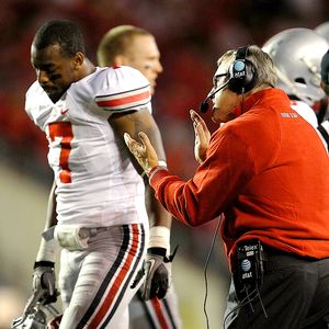 Jim Tressel and Jermale Hines