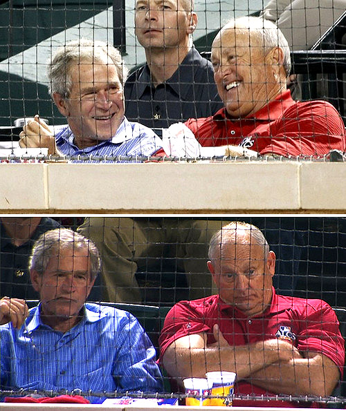 George W. Bush and Nolan Ryan
