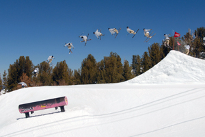 Bet he wishes he had a landing pad. Chris Logan at Mammoth.