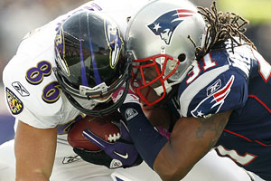 AP Photo/Winslow Townson Brandon Meriweather's helmet-to-helmet hit on