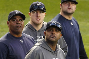 CC Sabathia, Mike Harkey, Phil Hughes and Joba Chamberlain