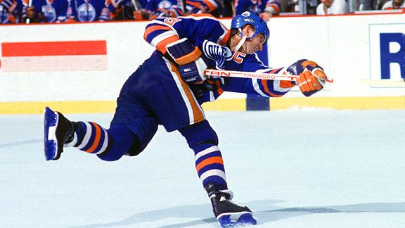 Wayne Gretzky with the Edmonton Oilers