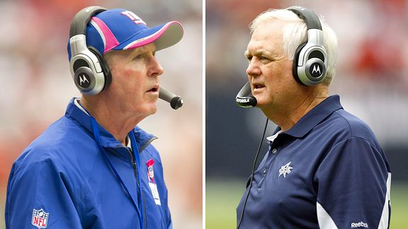 Tom Coughlin and Wade Phillips