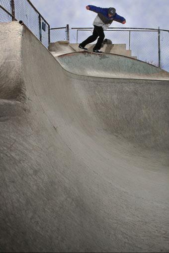 Mike Chin, backside tailslide