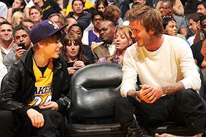 Justin Bieber, David Beckham