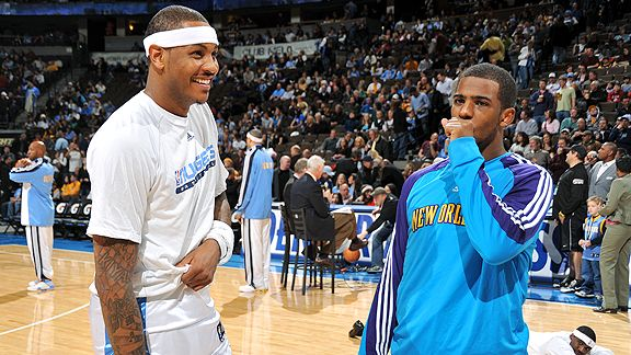 Carmelo Anthony and Chris Paul