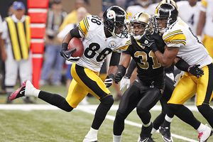 AP Photo/Gerald Herbert Emmanuel Sanders' big returns set the Steelers