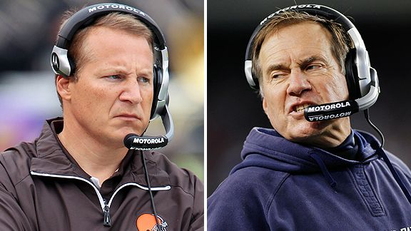 Eric Mangini and Bill Belichick