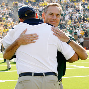 Mark Dantonio with Rich Rodriguez