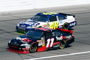 Denny Hamlin and Jimmie Johnson