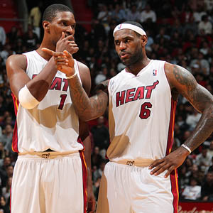 LeBron James & Chris Bosh