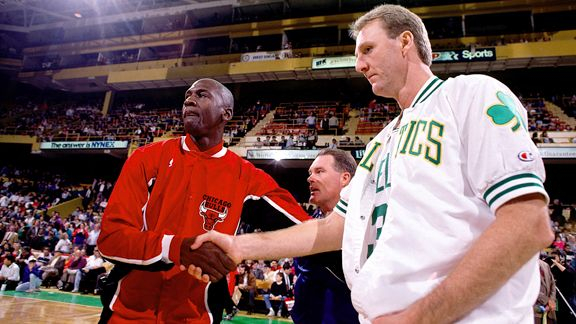Larry Bird and and Michael Jordan