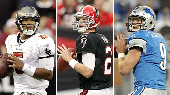 Josh Freeman, Matt Ryan, and Matthew Stafford