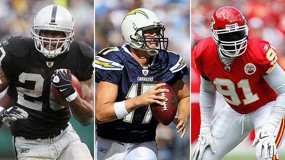 Darren McFadden, Philip Rivers and Tamba Hali