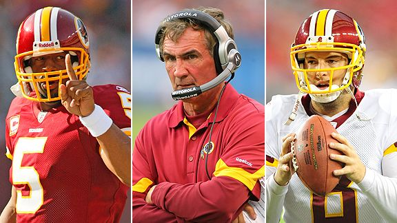 Donovan McNabb, Mike Shanahan and Rex Grossman