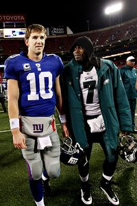 Eli Manning and Michael Vick