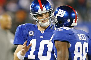 Eli Manning and Hakeem Nicks