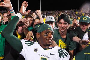 Oregon quarterback Darron Thomas