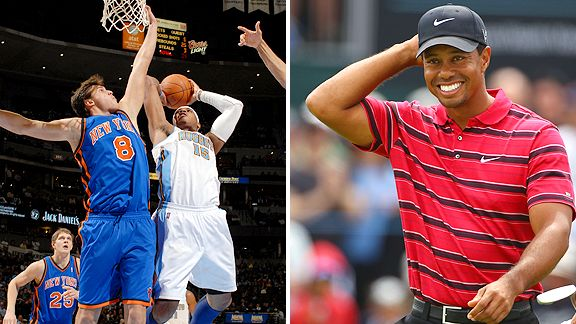 Carmelo Anthony and Tiger Woods